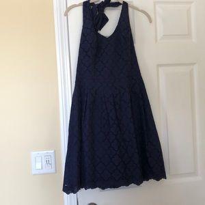 Lilly Pulitzer Navy Halter Dress